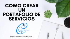 como crear un portafolio de servicios